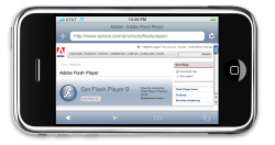 Ingen flashplayer til iPhone…